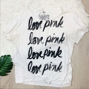 VS  pink white acid sheet wash tee 1715